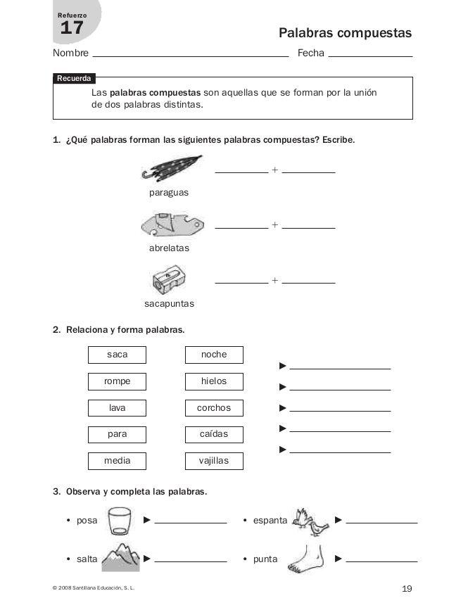 Lengua repaso y ampliación 3º primaria Santillana | ACTIVIDADES ...
