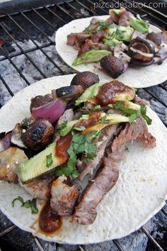 Tacos de carne a la cerveza - Pizca de Sabor