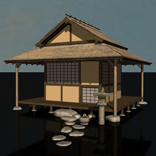 Traditional Japanese Teahouse 3d Model
