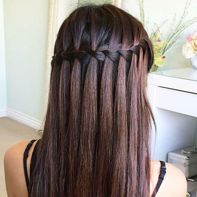 How STUNNING is this waterfall braid Braids Pinterest