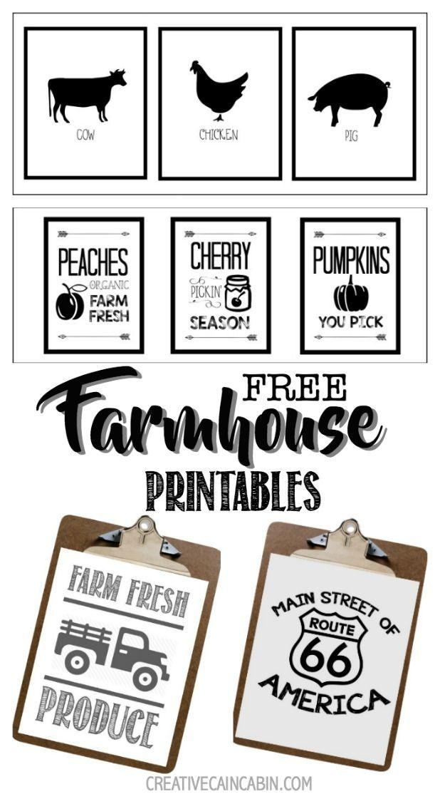Farmhouse Farm Animal Printables Free Printables