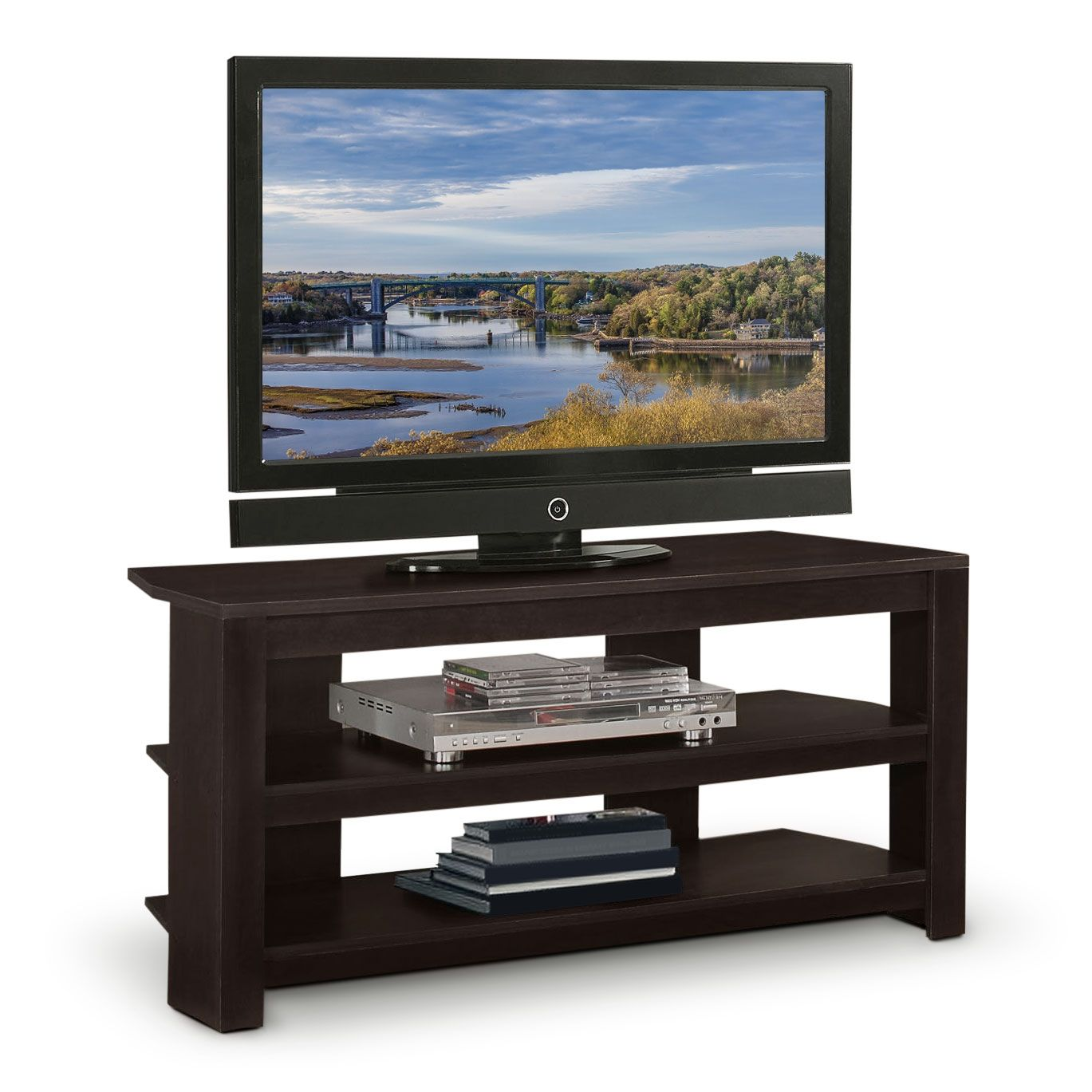 99 42 Leon S Online Only Rowan Tv Stand Entertainment