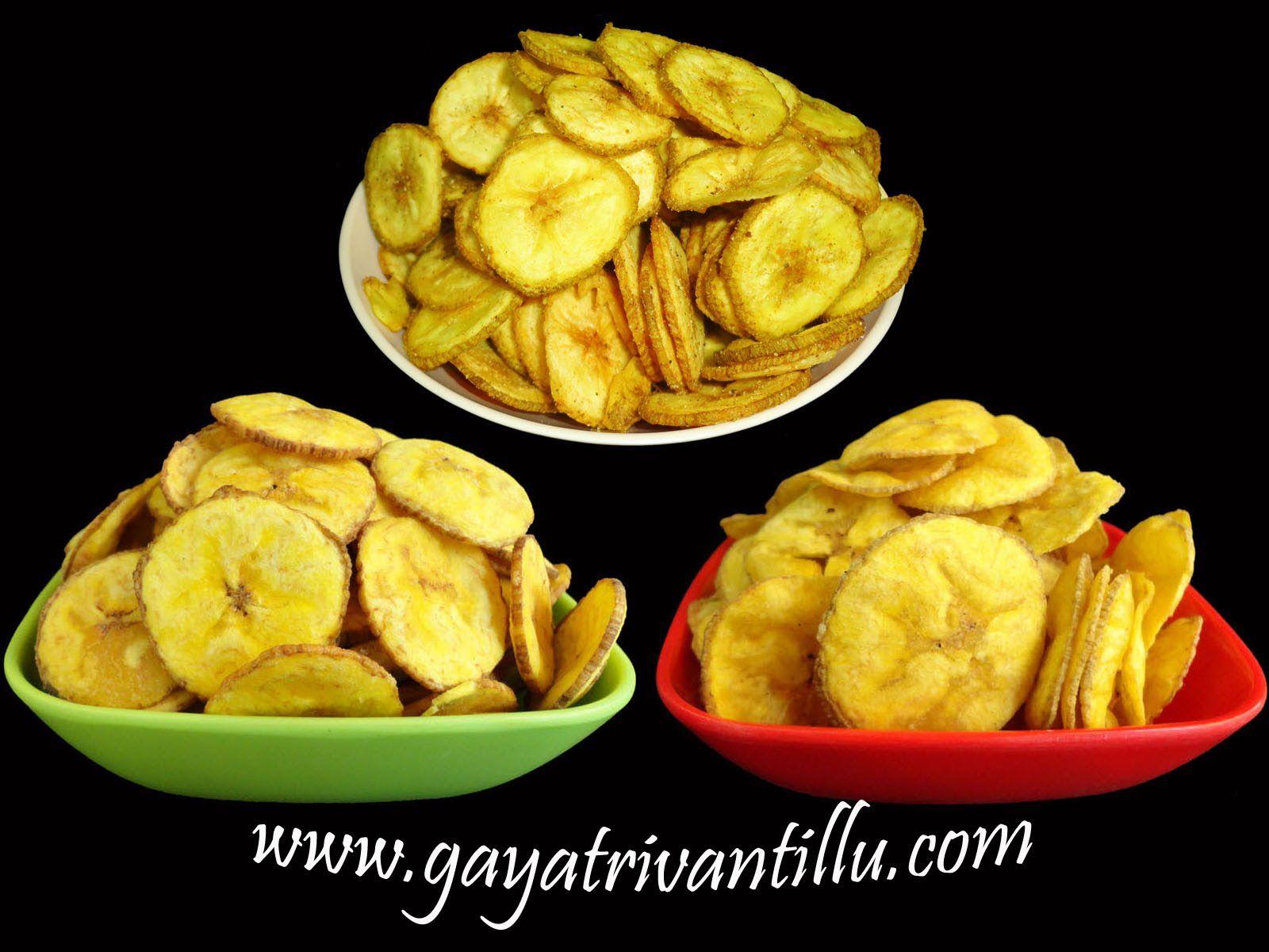 Banana Chips Indian Andhra Telugu Recipes Banana chips