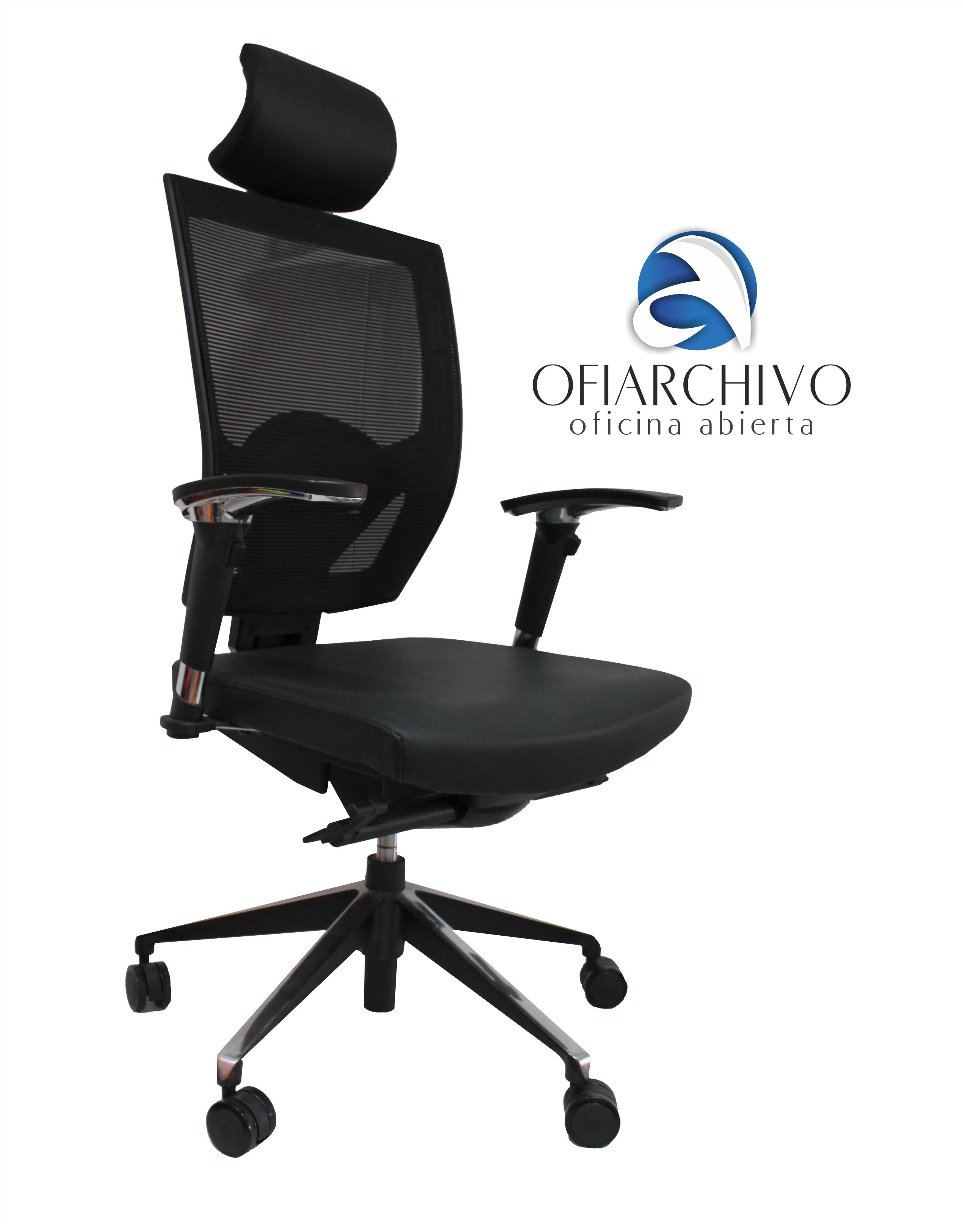 president office chair black. Silla Presidente Ofiarchivo - NEGRO President Office Chair Black