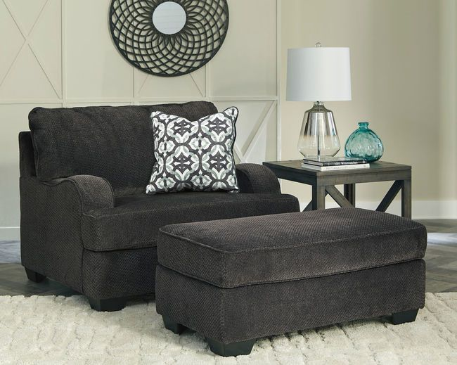 Best Charenton Charcoal Chair And A Half With Ottoman 14101 400 x 300