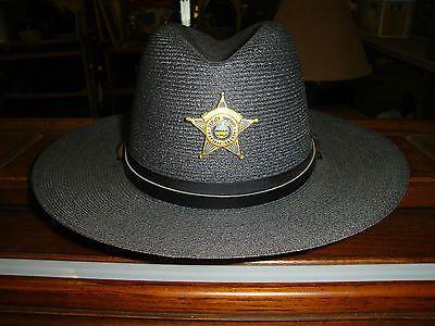 e724058b74eb1 VINTAGE STETSON TROOPER DEPUTY SHERIFF POLICE UNIFORM STRAW HAT-7-1 8-NEAR  MINT  199.99