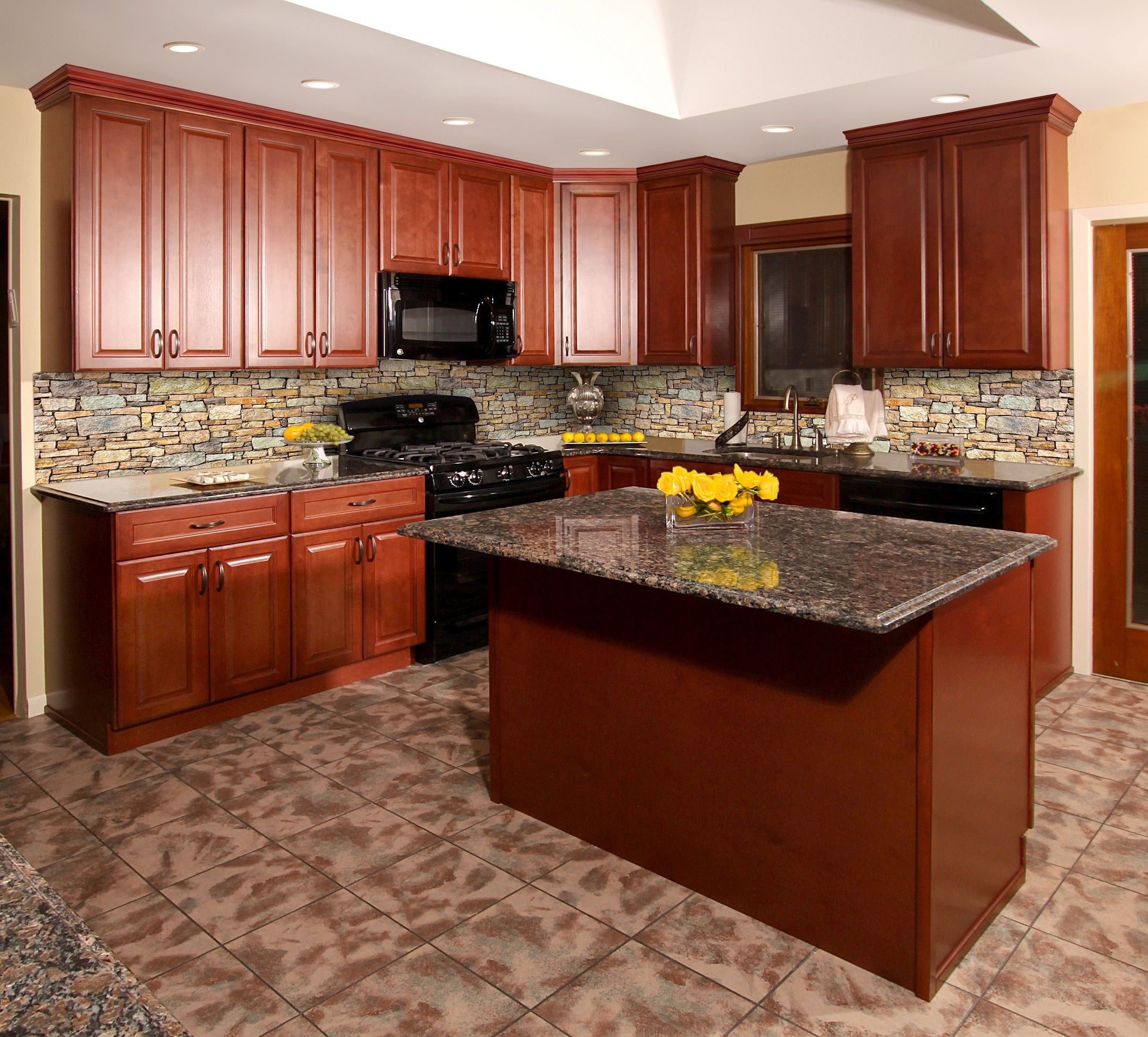 Hallmark Brandy Kitchen Vanity Shaker Kitchen Cabinets
