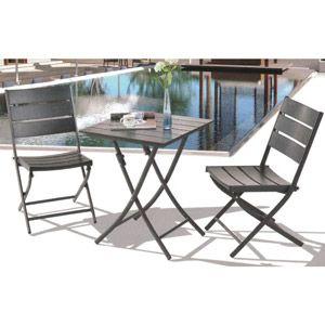 Royal Garden Aluminum 3 Pc Square Bistro Table Set 400 x 300