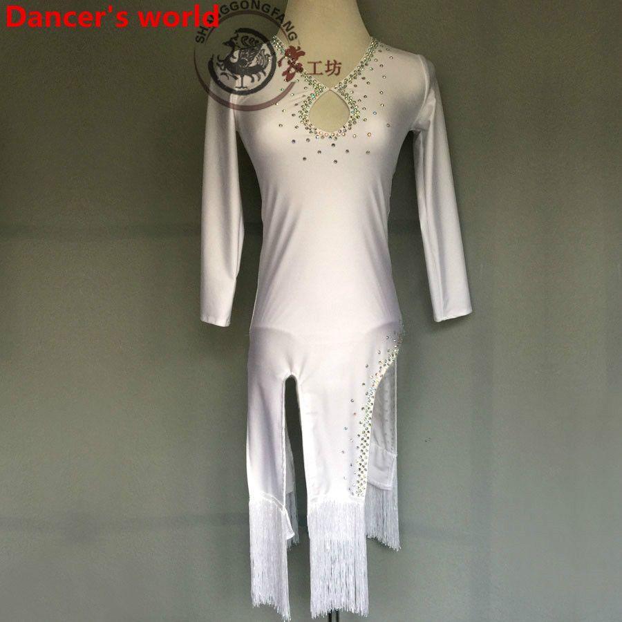 New arrival latin dance dress women long sleeves salsa samba tango