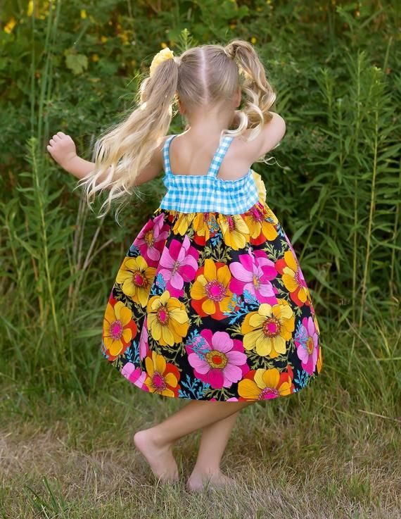 Photo of Fun Floral Dress for Spring and Summer, Toddler Girls Birthday, Easter, Twirl, Gift, Photo Shoot Dresses – Sizes 2T to 8 yrs