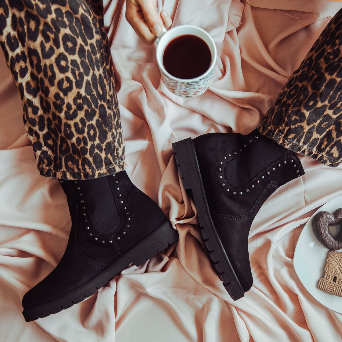 Black coffee and black shoes what else could you wish for