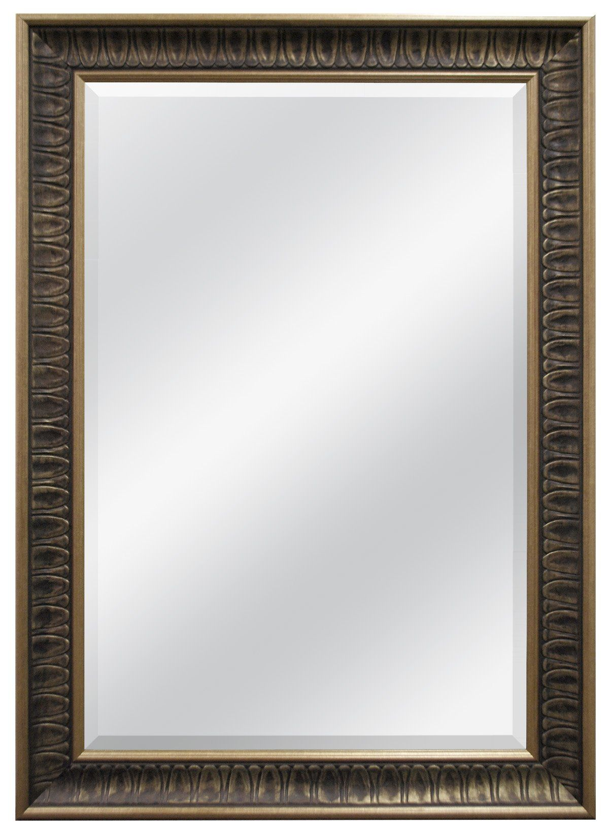 MCS 32x44 Inch Frame with 24x36 Inch Beveled Mirror, Bronze (47698 ...