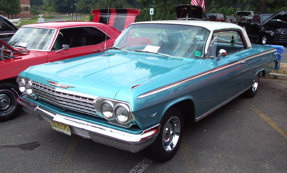 1962 Chevrolet Impala Hardtop Blue W White Top Classic Chrome And
