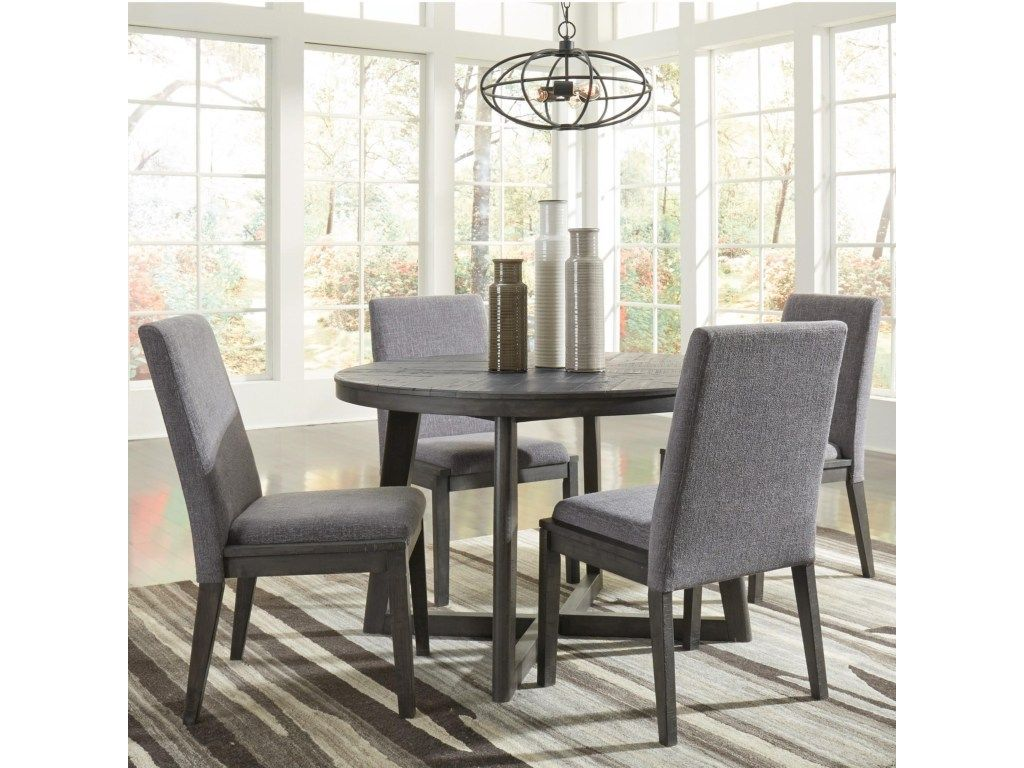 Signature Design By Ashley Besteneer Contemporary Five Piece Chair