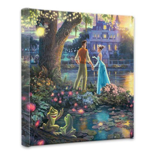"AmazonSmile: Thomas Kinkade Princess & the Frog 14""x14""x1.5"" canvas wrap: Prints: Posters & Prints"
