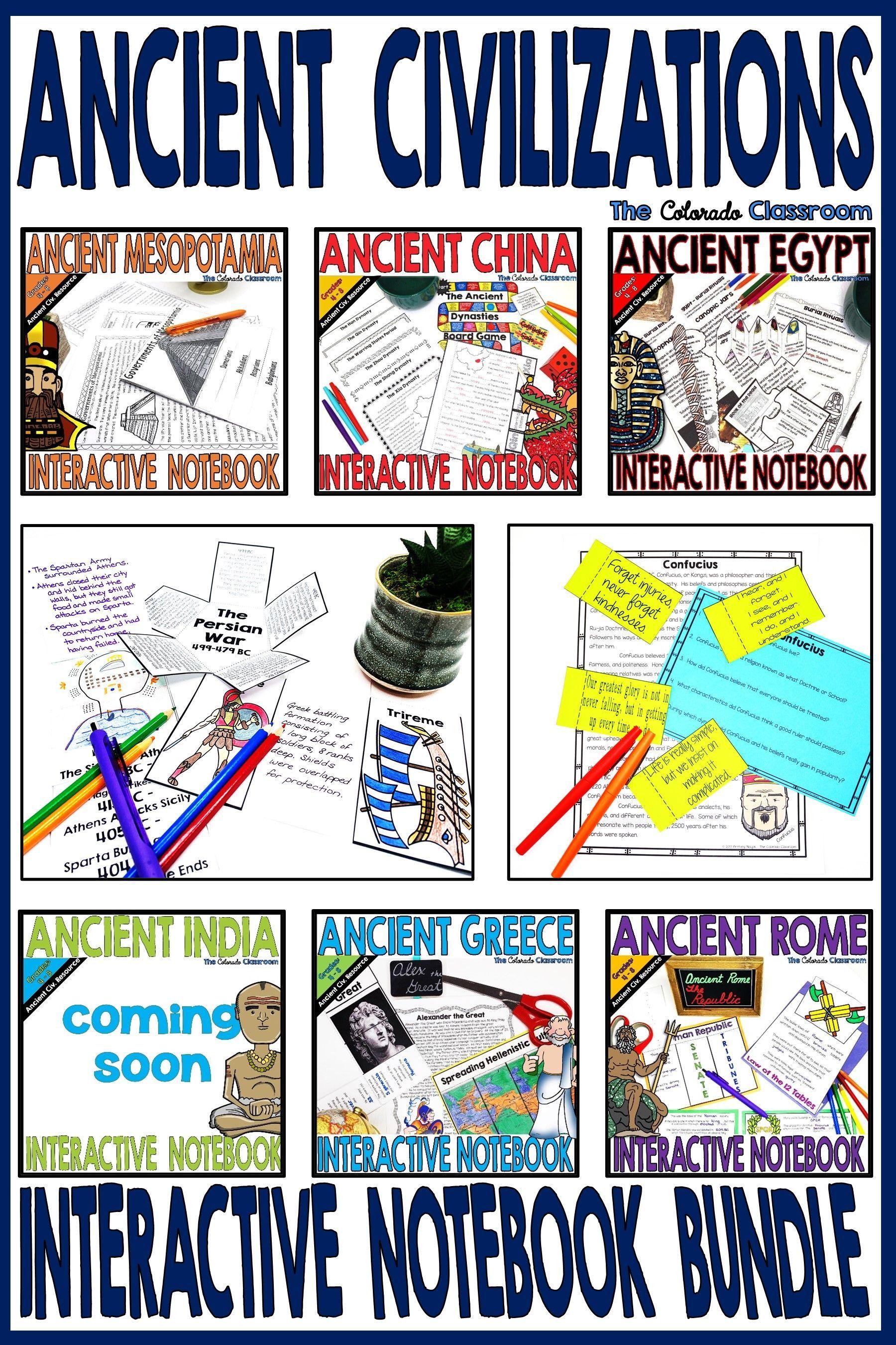 Ancient Civilizations Interactive Notebook Bundle In