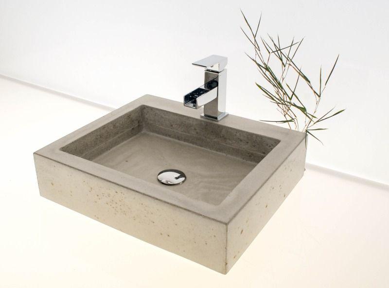Waschbecken Badewannen Waschbecken Aus Beton Kubus Ein