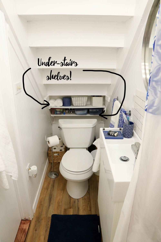 Bathroomdiydecor Bathroom Under Stairs Tiny Bathrooms Small Bathroom