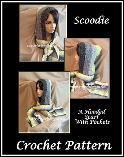 Scoodie Hooded Scarf With Pockets Free Crochet Pattern Httpswww