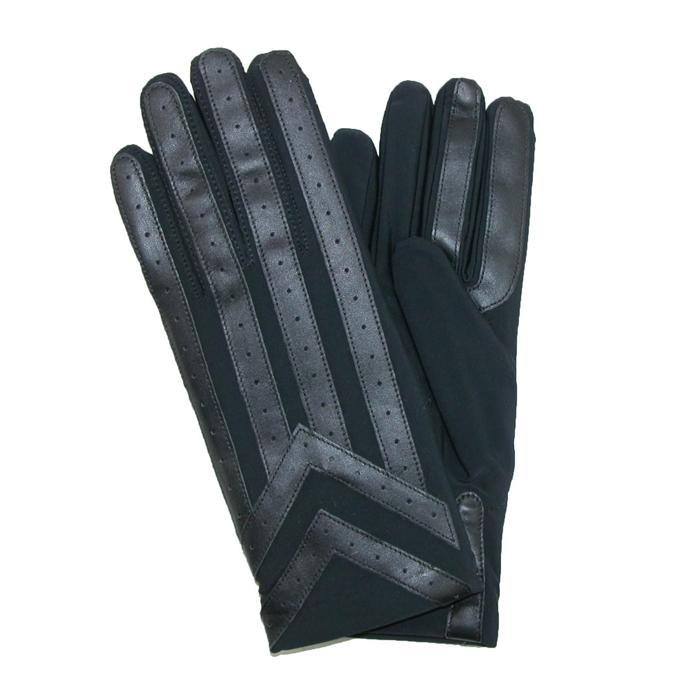 Mens gloves for driving - Totes Isotoner Mens Thinsulate Lined Spandex Driving Glove Genuine Leather Palm Grips And Finger Protection