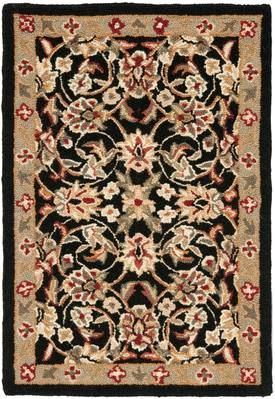 Safavieh Black Chelsea Hk78 Rug Traditional Rectangle 1 8 X 2 6 Floral Area Rugs Safavieh Rugs