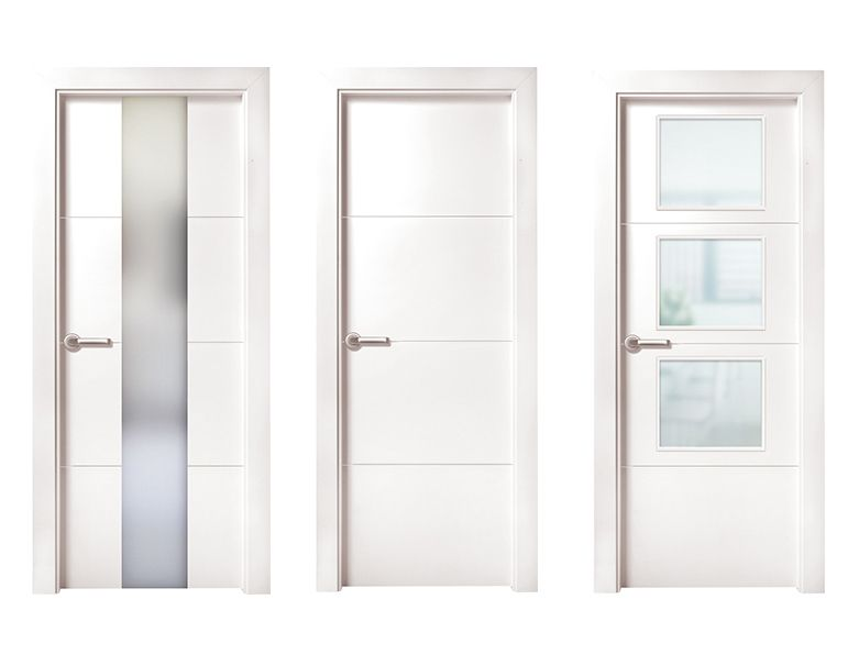 Puerta de interior blanca modelo munch de la serie for Puertas castalla
