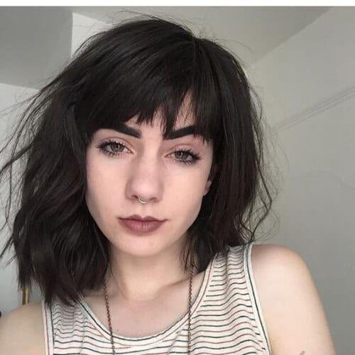 bangs thick hair   Bangs with medium hair, Medium hair styles, Short hair with bangs