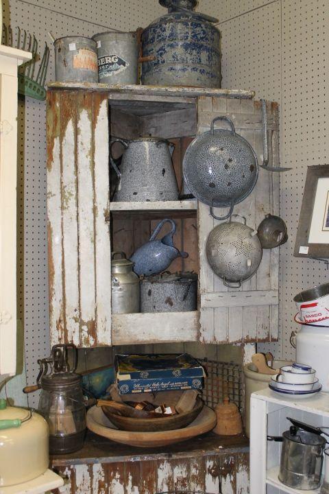 Rustic Farmhouse Corner Cupboard