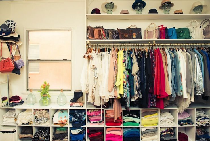 Wall To Cubbies For Sweaters And Shirts Jeans Closet Features Top Shelf Hats Another Designer Handbags