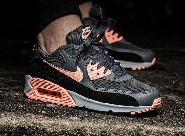 Nike Air Max 90 Essential Grey Sunset Glow  0af4eca751