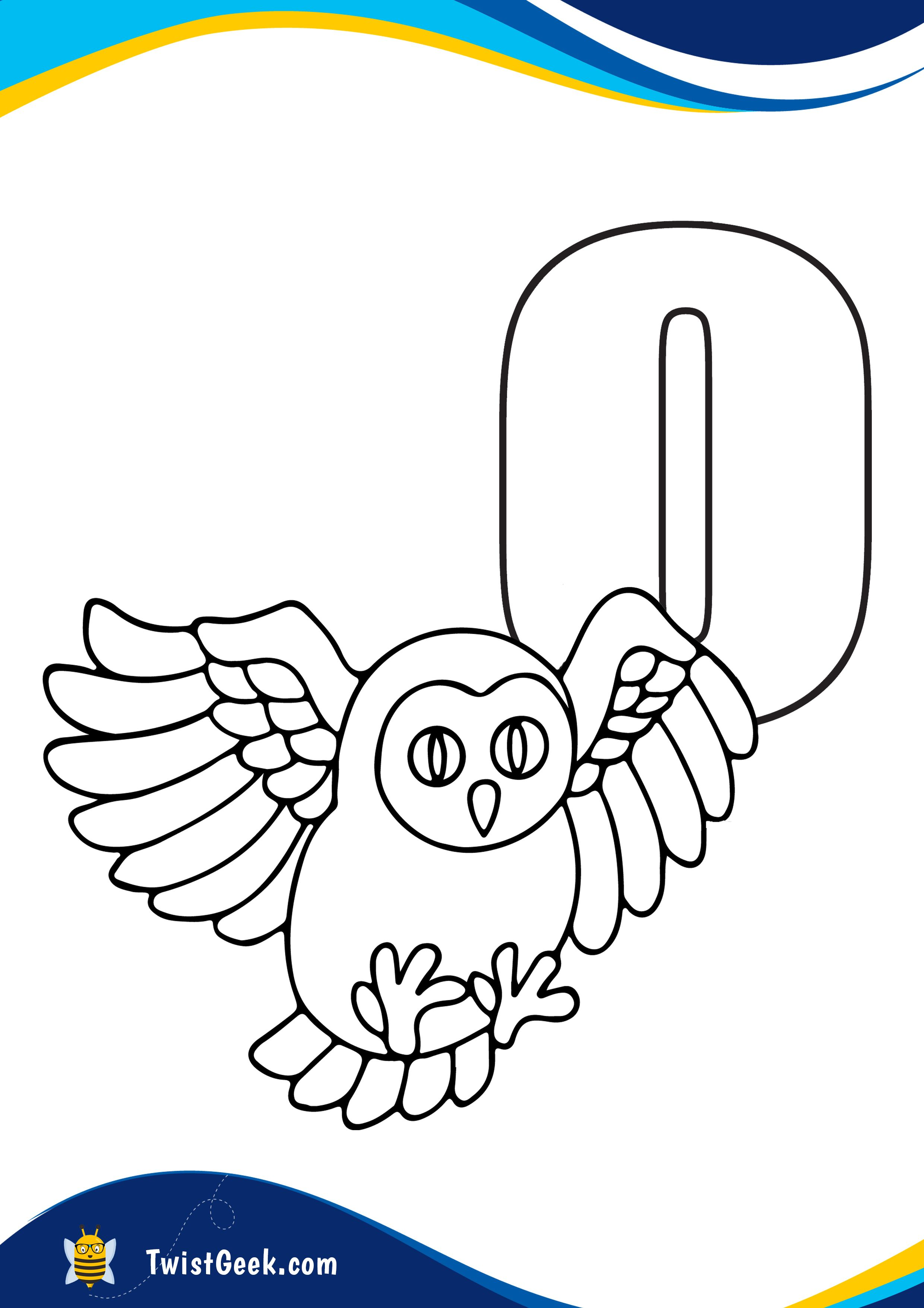 Letter O Owl Alphabet Lesson Plan Printable Activities And