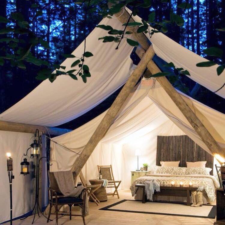 At sove i det fri | Tent glamping, Awesome bedrooms, Glamping