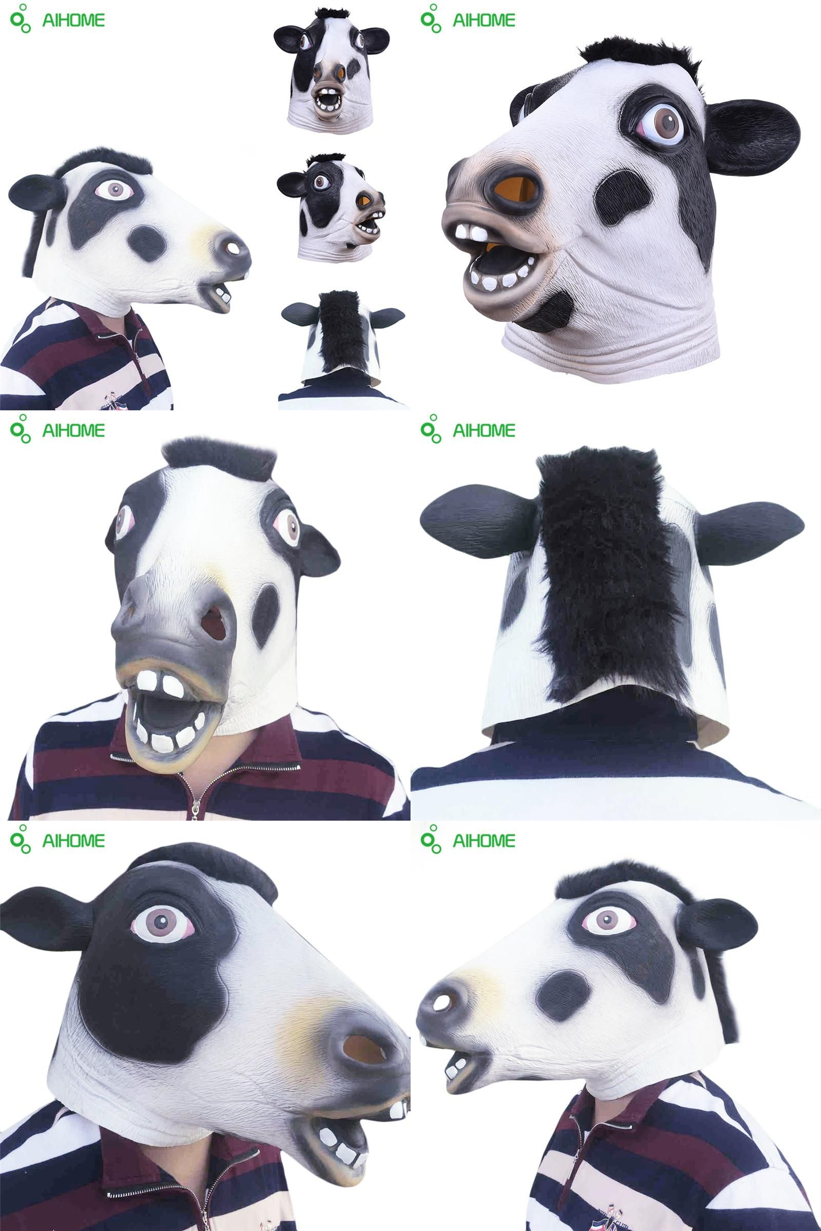 Visit to Buy] Halloween Masks Creepy Cow Party Mask Costume Party ...