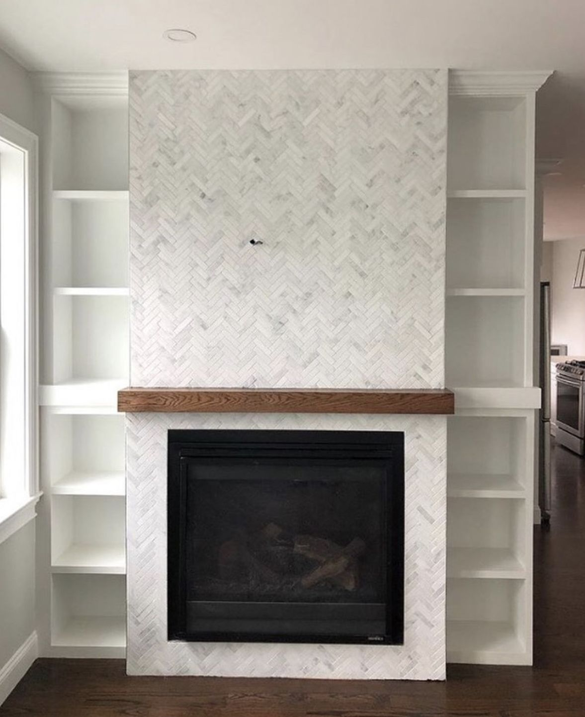 Riad Tile Marble Casablanca Carrara Tiled Fireplace Wall Fireplace Tile Surround Home Fireplace