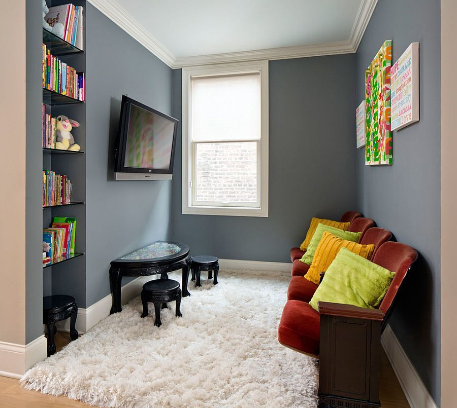 20 Small Tv Rooms That Balance Style With Functionality Small Tv Room Small Living Room Design Kids Tv Room