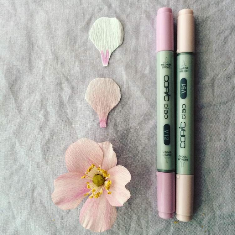 How To Make Crepe Paper Flowers With Copic Markers Tissue Paper