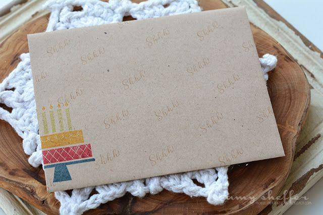 Stamped Envelope by Amy Sheffer for Papertrey Ink (November 2016)