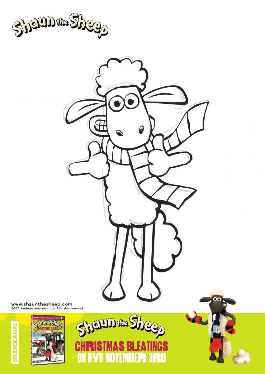 Shaun The Sheep Christmas Bleatings Colouring Sheet 1 Jpg 851 1 200 Pixels Shaun The Sheep Sheep Drawing Sheep Art