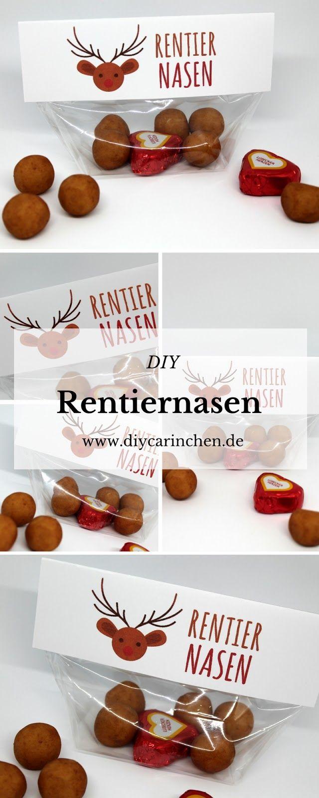 DIY Rentiernasen {mit gratis Printable} / Last Minute Geschenkidee ...