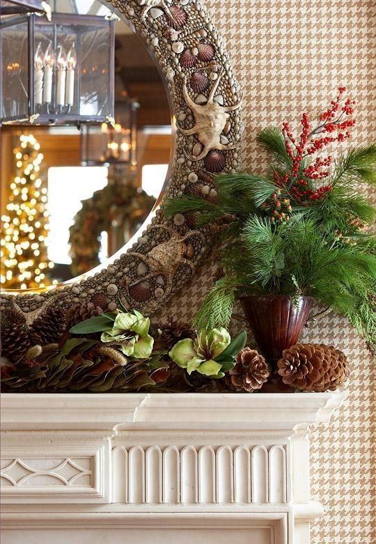 Decorating Holiday Mantels Mirrors Pinterest Mantels