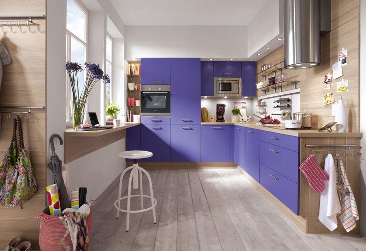 Küche in Lila #Eckküche www.dyk360-kuechen.de | Lila Küchen ... | {Küche lila 10}