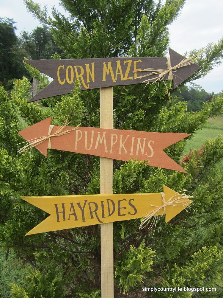 Make Fall Yard Signs From Scrap Lumber Fall festival