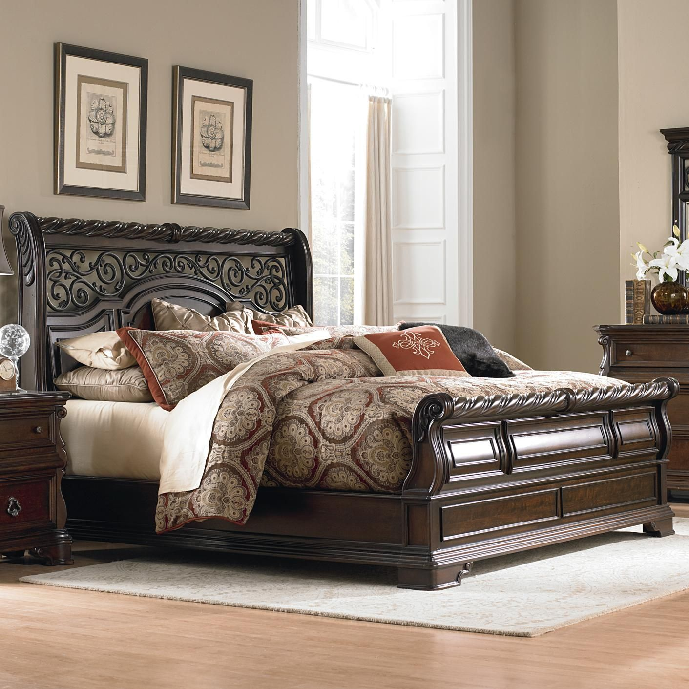 Arbor Place Queen Traditional Sleigh Bed by Liberty Furniture | Bed ...
