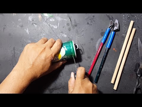 Membuat pena kaligrafi dari kaleng bekas YouTube