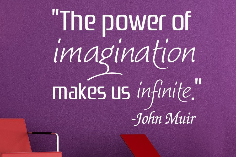 The Power Of Imagination.. John Muir Wall Decal Quote