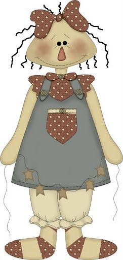 COUNTRY DOLL CLIP ART