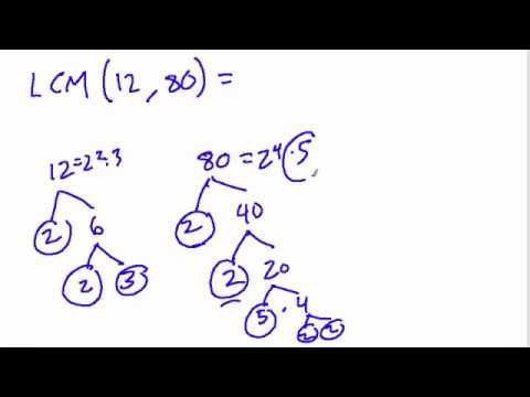 Venn Diagram for LCM and GCF - YouTube