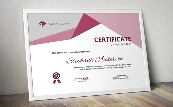 Certificate Of Achievement Word Template Cool Word Docx Certificate Template  Certificate Template And .
