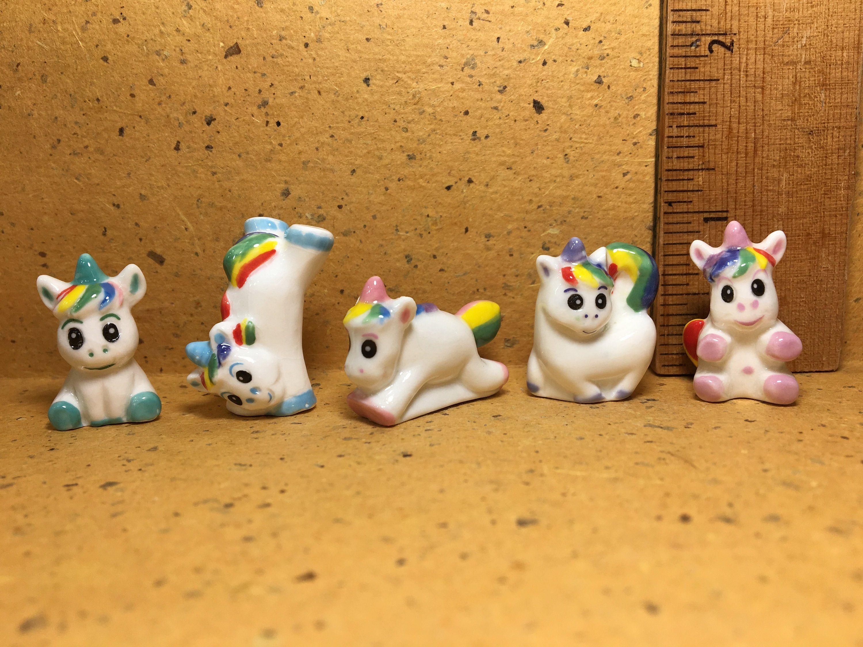 Dollhouse Miniature 2 Coloring Books Illustrated Cats//Unicorns