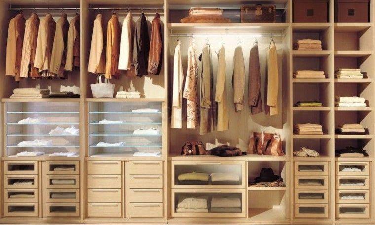 armario vestidor de madera color Interiores Pinterest House